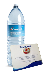 carnival pin and water