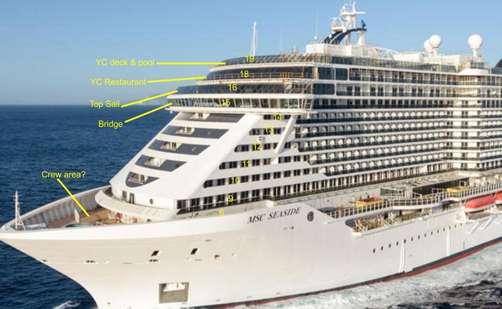 SUN FOLLOWER: MSC Seaside ship design and environment