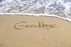 goodbye in sand